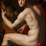 Agnolo Bronzino , Italian , 1503-1572 -- Portrait of Cosimo I de' Medici as Orpheus, Philadelphia Museum of Art