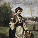 Gypsy Girl at a Fountain, Jean-Baptiste-Camille Corot