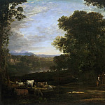 Claude Gellée, also called Claude Lorrain, French, 1600-1682 -- Landscape with Cattle and Peasants, Philadelphia Museum of Art