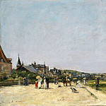Philadelphia Museum of Art - Eugène-Louis Boudin, French, 1824-1898 -- Deauville, the Terrace