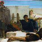 Philadelphia Museum of Art - Sir Lawrence Alma-Tadema, English (born Netherlands), 1836-1912 -- A Reading from Homer