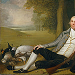 Ralph Earl, American, 1751-1801 -- Reclining Hunter, Philadelphia Museum of Art