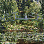 Claude Monet, French, 1840-1926 -- The Japanese Footbridge and the Water Lily Pool, Giverny, Philadelphia Museum of Art