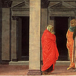 Sandro Botticelli , Italian , 1445-1510 -- Saint Mary Magdalene Listening to Christ Preach, Philadelphia Museum of Art