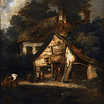Philadelphia Museum of Art - John Crome, English, 1768-1821 -- Blacksmith's Shop near Hingham, Norfolk