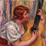 Pierre-Auguste Renoir, French, 1841-1919 -- Woman with a Guitar, Philadelphia Museum of Art