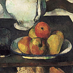 Paul Cézanne, French, 1839-1906 -- Still Life with Apples and a Glass of Wine, Philadelphia Museum of Art