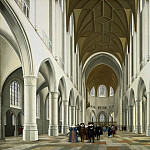 Pieter Jansz. Saenredam, Dutch , 1597-1665 -- Interior of Saint Bavo, Haarlem, Philadelphia Museum of Art