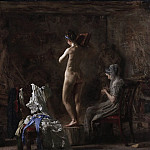 Thomas Eakins, American, 1844-1916 -- William Rush Carving His Allegorical Figure of the Schuylkill River, Philadelphia Museum of Art