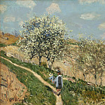 Philadelphia Museum of Art - Alfred Sisley, French, 1839-1899 -- Landscape (Spring at Bougival)
