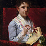 Mary Ellison Embroidering, Mary Cassatt