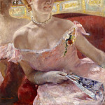 Woman with a Pearl Necklace in a Loge, Mary Cassatt