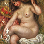 Pierre-Auguste Renoir, French, 1841-1919 -- Large Bather, Philadelphia Museum of Art