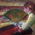 Mary Stevenson Cassatt, American, 1844-1926 -- In the Loge, Philadelphia Museum of Art