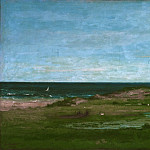 Gustave Courbet, French, 1819-1877 -- Coast Scene, Philadelphia Museum of Art