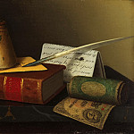 Philadelphia Museum of Art - William Michael Harnett, American, 1848-1892 -- Still Life with a Writing Table