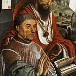 Simon Marmion, Netherlandish , first documented 1449, died 1489 -- Saint Jerome and a Cardinal Praying, Philadelphia Museum of Art