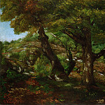 Gustave Courbet, French, 1819-1877 -- The Fringe of the Forest, Philadelphia Museum of Art