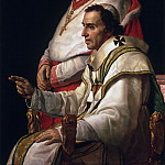 Jacques-Louis David, French, 1748-1825 -- Portrait of Pope Pius VII and Cardinal Caprara, Philadelphia Museum of Art
