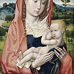 Attributed to Hugo van der Goes, Netherlandish , first documented 1467, died 1482 -- Virgin and Child, Philadelphia Museum of Art