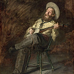 Thomas Eakins, American, 1844-1916 -- Cowboy Singing, Philadelphia Museum of Art