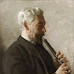 Thomas Eakins, American, 1844-1916 -- The Oboe Player , Philadelphia Museum of Art