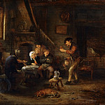 Peasants Drinking and Making Music, Adriaen Van Ostade