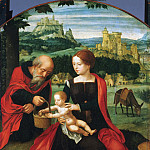 Philadelphia Museum of Art - Master of the Female Half-Lengths, Netherlandish (active Antwerp), active c. 1520-c. 1540 -- Rest on the Flight into Egypt