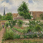 Vegetable Garden, Overcast Morning, Eragny, Camille Pissarro
