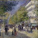 Pierre-Auguste Renoir, French, 1841-1919 -- The Grands Boulevards, Philadelphia Museum of Art