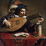 Theodor Rombouts, Flemish , 1597?-1637 -- Lute Player, Philadelphia Museum of Art
