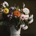 Philadelphia Museum of Art - Ignace-Henri-Jean-Théodore Fantin-Latour, French, 1836-1904 -- Still Life with Chrysanthemums