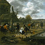 Philadelphia Museum of Art - Jan Steen, Dutch (active Leiden, Haarlem, and The Hague), 1625/26-1679 -- Landscape with an Inn and Skittles