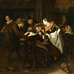 Philadelphia Museum of Art - Richard Brakenburg, Dutch (active Haarlem), 1650-1702 -- The Dice Players