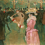 Henri de Toulouse-Lautrec, French, 1864-1901 -- At the Moulin Rouge: The Dance, Philadelphia Museum of Art
