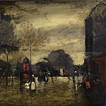 Philadelphia Museum of Art - Robert Henri, American, 1865-1929 -- Boulevard in Wet Weather, Paris