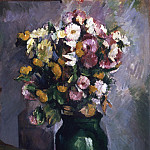 Still Life with Flowers in an Olive Jar, Paul Cezanne