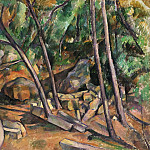 Millstone in the Park of the Château Noir, Paul Cezanne