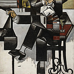 Juan Gris , Spanish, 1887-1927 -- Man in a Café, Philadelphia Museum of Art
