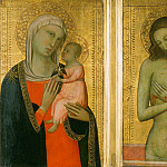 Philadelphia Museum of Art - Allegretto di Nuzio, also called Allegretto Nuzi, Italian (active Fabriano and Florence), first documented 1345, died 1373 -- Virgin and Child; Man of Sorrows