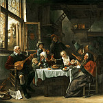 Jan Steen, Dutch , 1625/26-1679 -- As the Old Ones Sing, So the Young Ones Pipe, Philadelphia Museum of Art