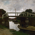 Philadelphia Museum of Art - Jacob Hendricus Maris, Dutch (active The Hague and London), 1837-1899 -- Canal near Rijswijk
