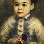 Boy with a Toy Soldier (Portrait of Jean de La Pommeraye), Pierre-Auguste Renoir