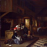 Philadelphia Museum of Art - Jan Hendrik August Leys, Belgian, 1815-1869 -- Interior of an Inn