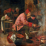 Attributed to Adriaen Brouwer, Dutch , 1606-1638 -- Pancake Baker, Philadelphia Museum of Art