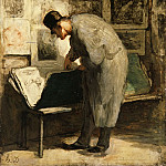 Honoré Daumier, French, 1808-1879 -- The Print Collector, Philadelphia Museum of Art