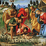 Luca Signorelli, Italian , first documented 1470, died 1523 -- The Adoration of the Shepherds, Philadelphia Museum of Art