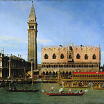 Canaletto , Italian , 1697-1768 -- The Bucintoro at the Molo on Ascension Day, Philadelphia Museum of Art