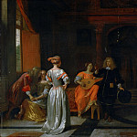 Pieter de Hooch, Dutch , 1629-1684 -- Party, Philadelphia Museum of Art