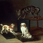 Paulus Potter, Dutch , 1625-1654 -- Cat Playing with Two Dogs, Philadelphia Museum of Art